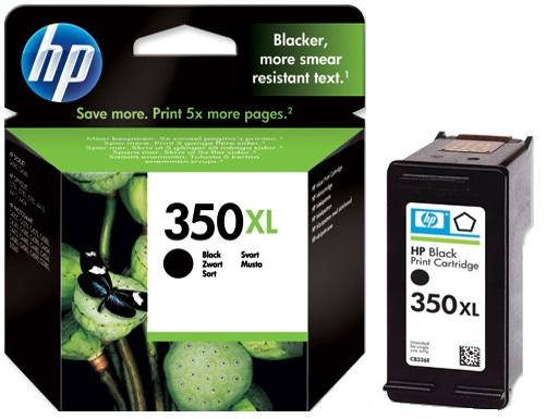 HP 350 XL (CB336EE) black Originál Originální černá náplň HP 350xl