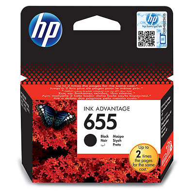 HP 655 (HP CZ109AE) black Originál 14 ml Originální cartridge HP655 (HP CZ109AE) - černá
