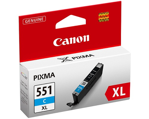 Canon CLI-551xl C - cyan Originál Originální cartridge Canon CLI551C xl - azurová
