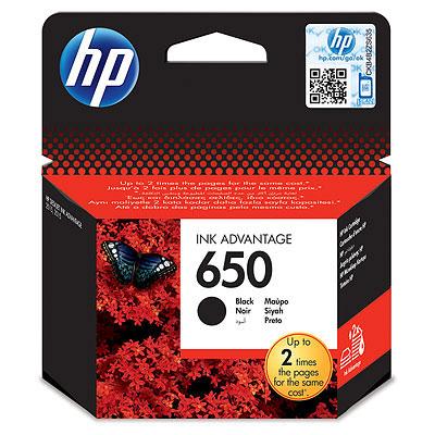 HP 650 (HP CZ101AE) black Originální cartridge HP650 (HP CZ101AE) - černá