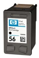 HP 56 (C6656AE) black - renovace Repasování vaší prázdné cartridge HP56 (C6656A)