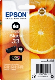 Epson T33 (C13T33414012) photo black original